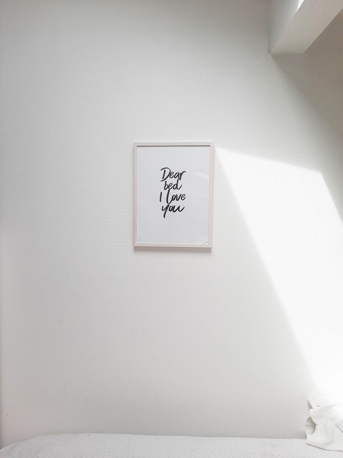 "Affiche Desenio ""Dear bed I love you"""