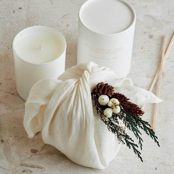 Furoshiki blanc