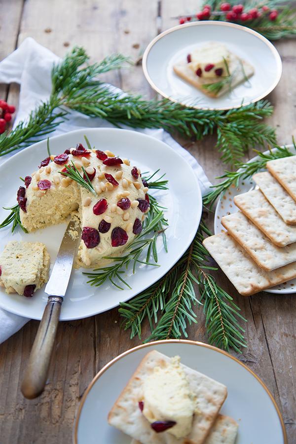 Recettes végétariennes pour Noël : fromage frais végétal
